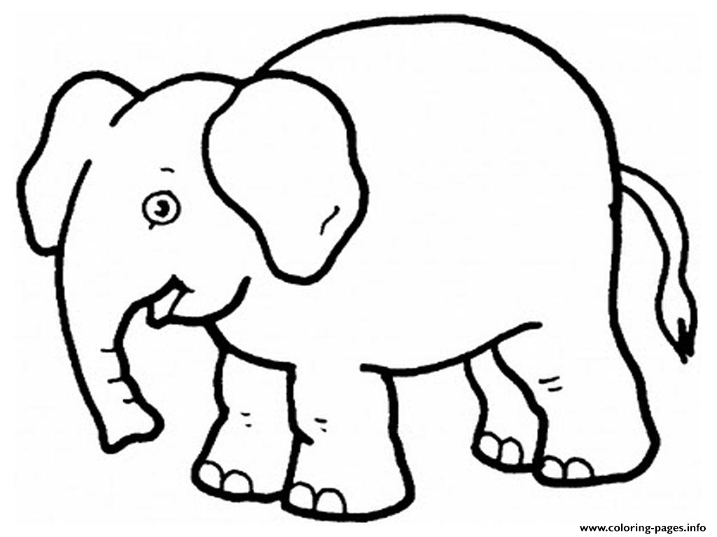Elephant Preschool S Zoo Animals0d63 Coloring Pages Printable