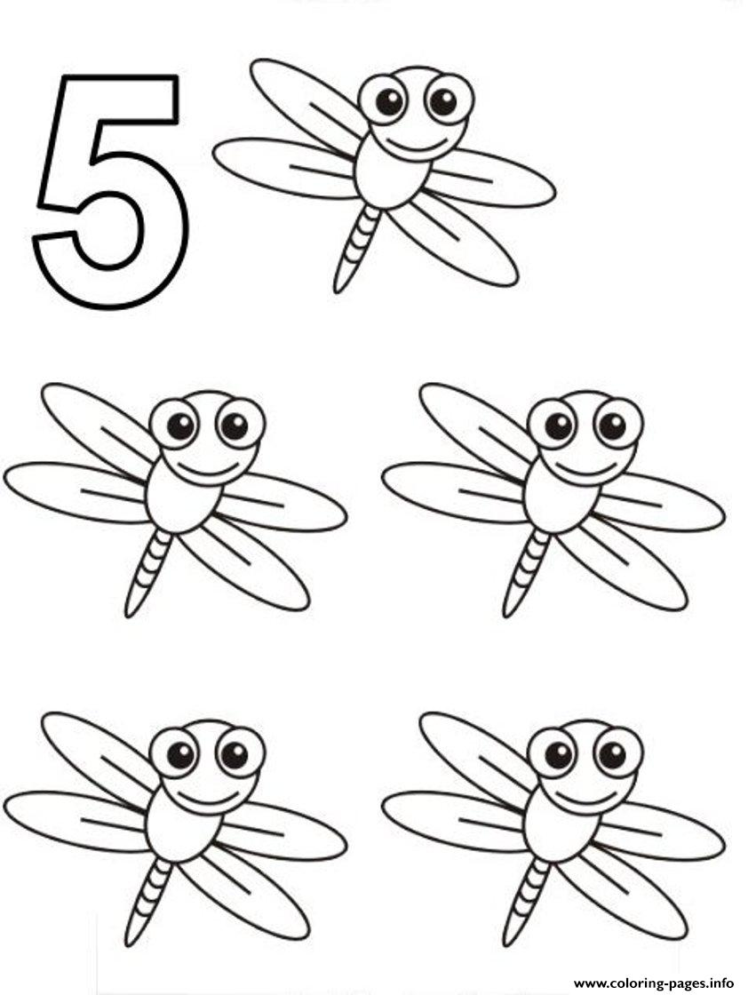 picture regarding Dragonfly Printable referred to as 5 Dragonfly S Of Animalsf27a Coloring Web pages Printable