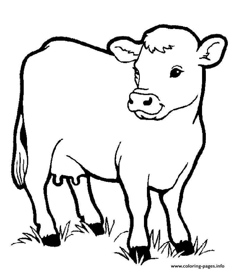 Little Cow Preschool S Farm Animalsbb1f Coloring Pages Printable