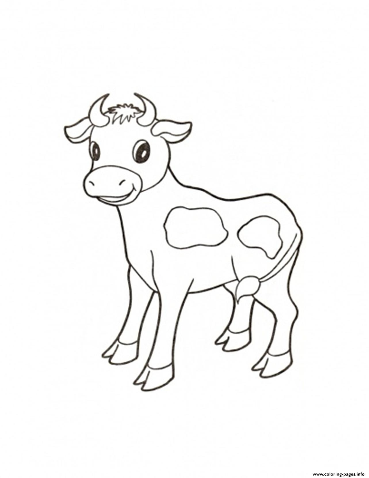 Cute Calf Farm Animal S32ee Coloring Pages