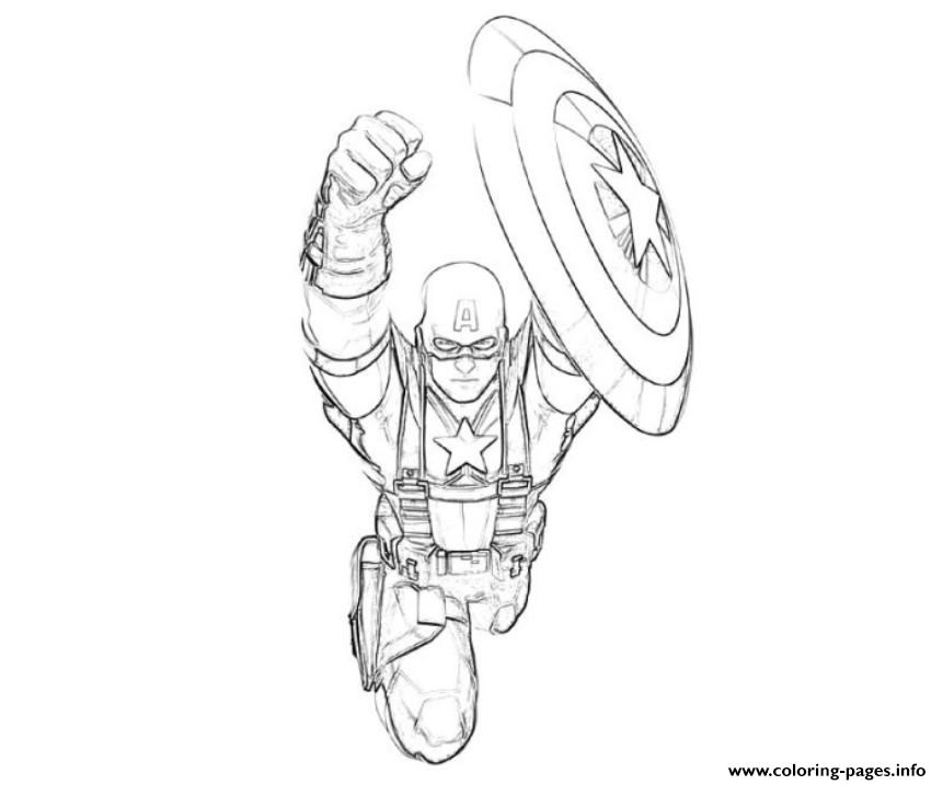 Flying Captain America S For Kids44cf Coloring Pages Printable Marvel
