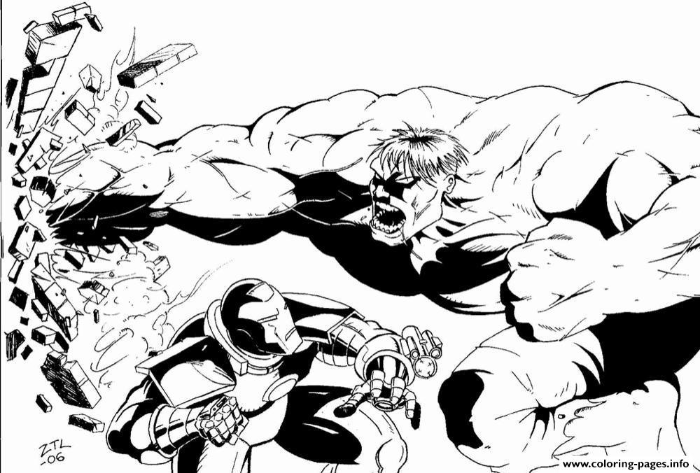 Hulk Vs Iron Man S For Adulte32f Coloring Pages