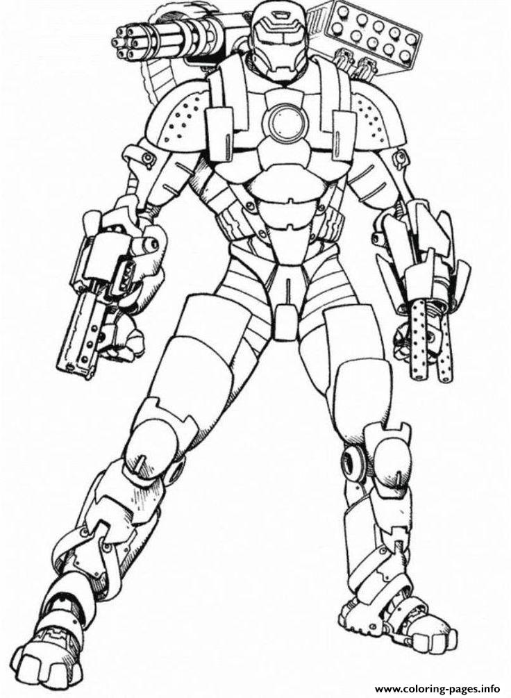 Iron Man Armored Adventures Seed9 Coloring Pages Printable