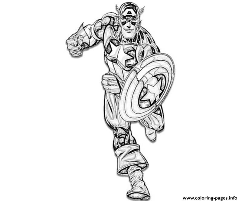 Ready To Fight Captain America Coloring Page032b Coloring Pages