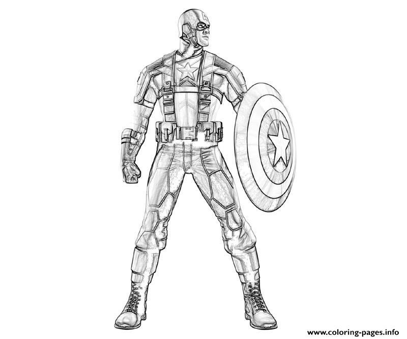 Standing Still Captain America Coloring Page8230 Pages Print Download 470 Prints