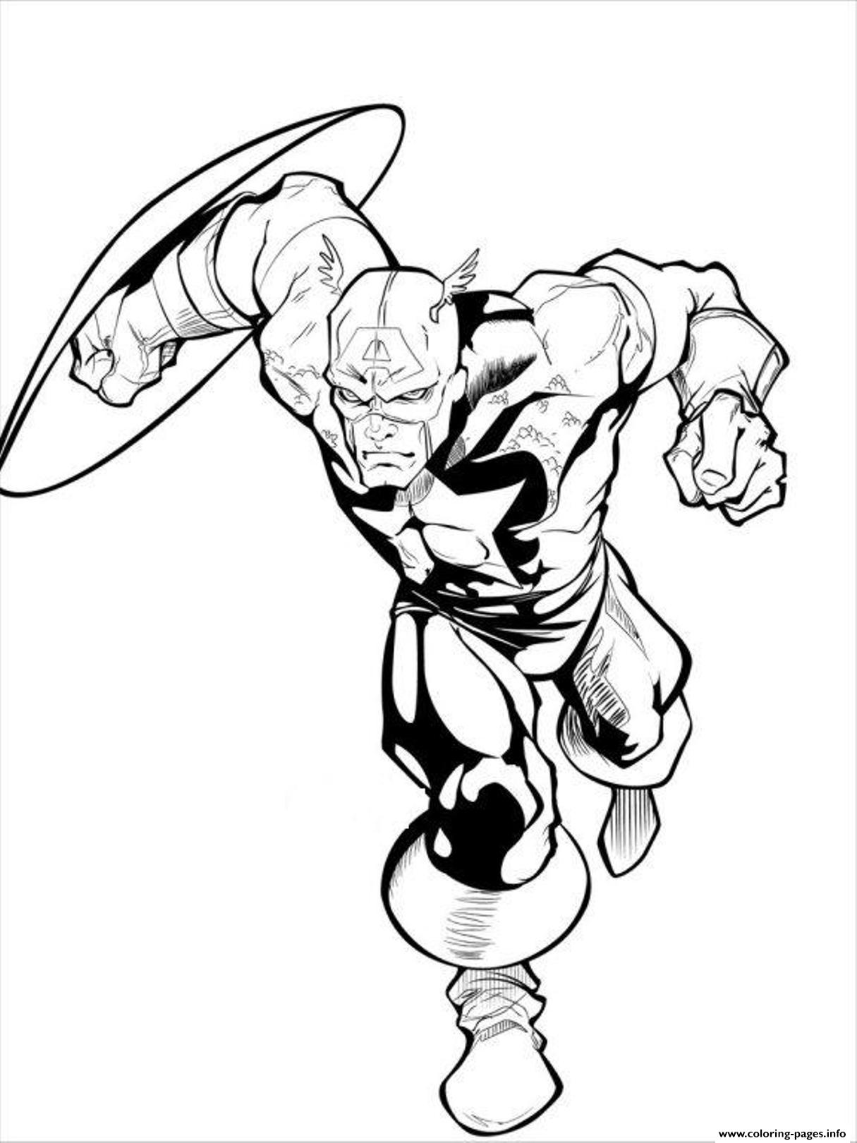 superhero coloring pages captain america - photo#22