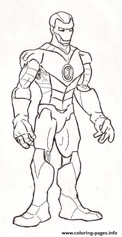 Standing Still Iron Man Coloring Page1f83 Pages