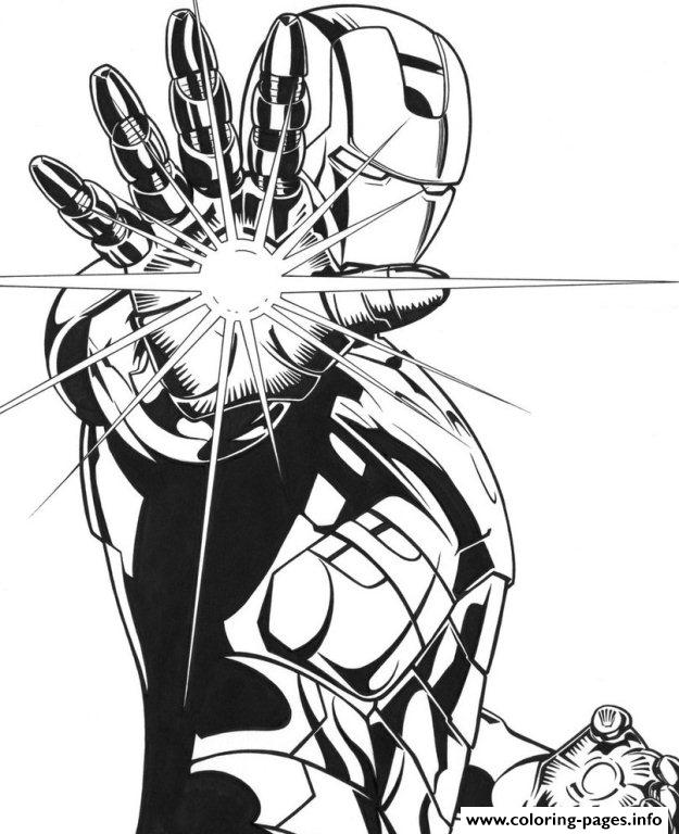 Lighting Palm Iron Man 163ea Coloring Pages Printable