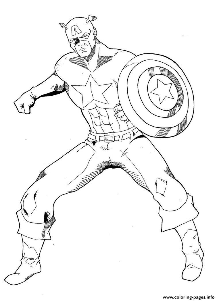 Captain America For Boys69b6 Coloring Pages