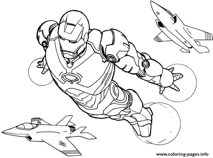Iron Man Flying S6c1b Coloring Pages