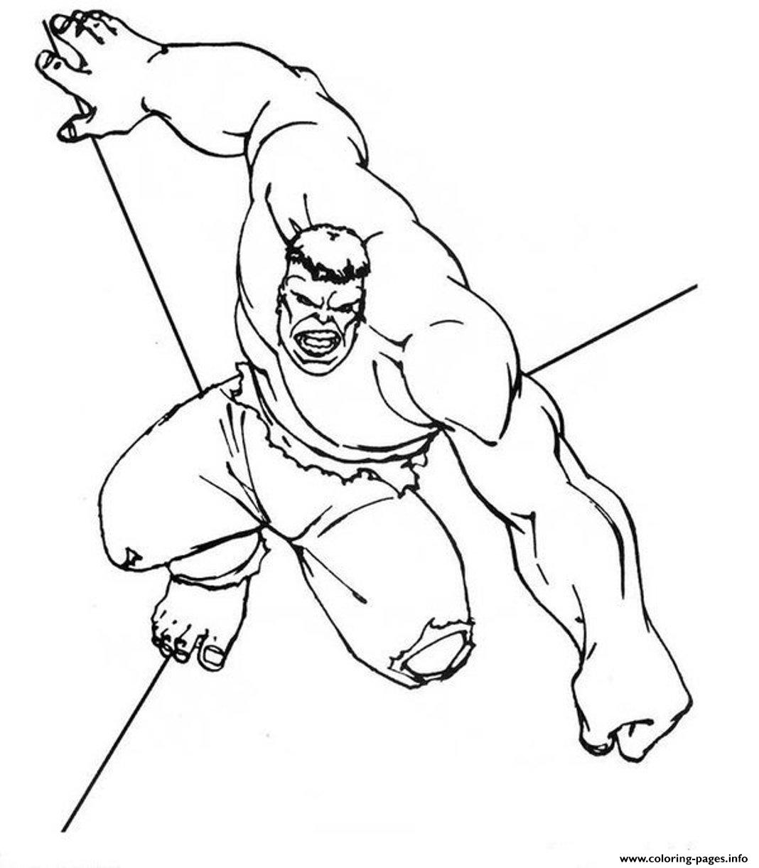 The Strong Man Hulk S3331 Coloring Pages Print Download