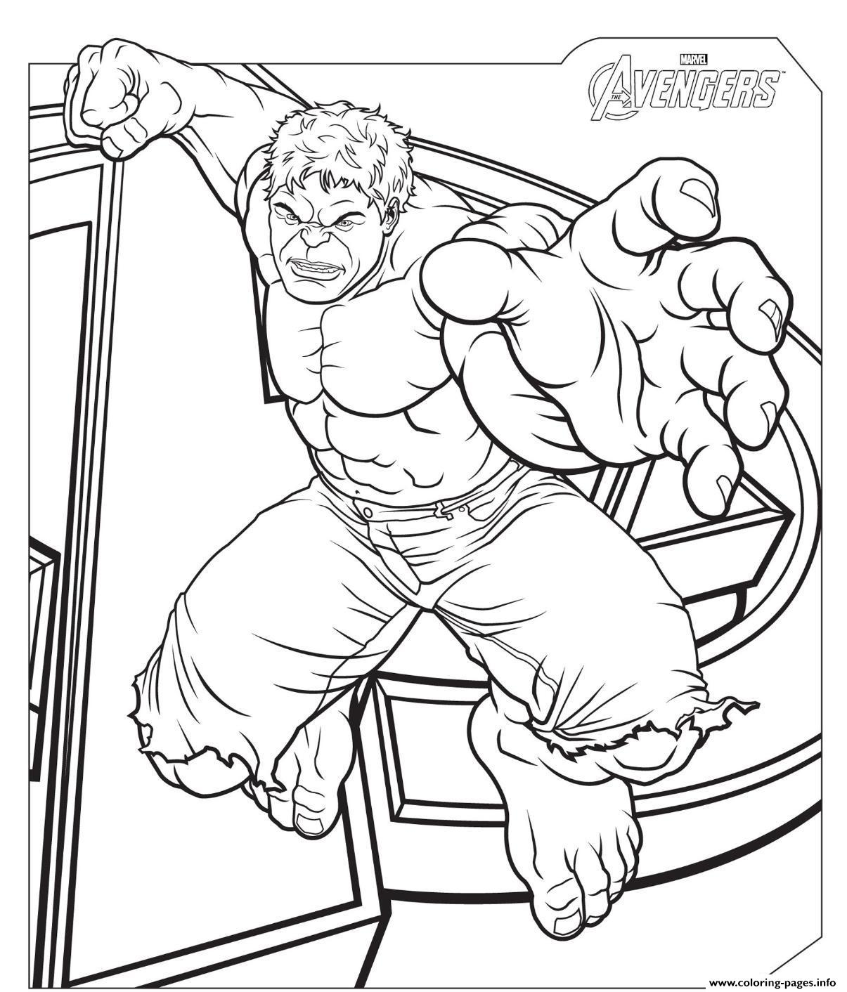 The Avengers Hulk S2f57 Coloring Pages