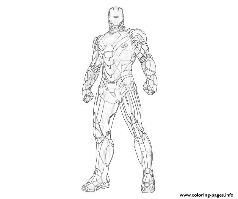 Unarmed Iron Man Coloring Page5b6b Colouring Print Pages