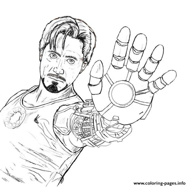 Tony Stark coloring page for boysaed6 Coloring pages Printable