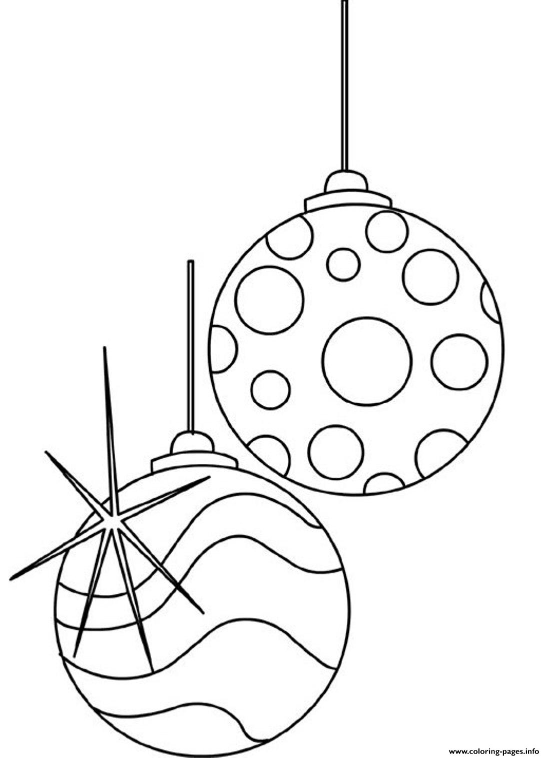 balls ornaments christmas printable s3d4e coloring pages