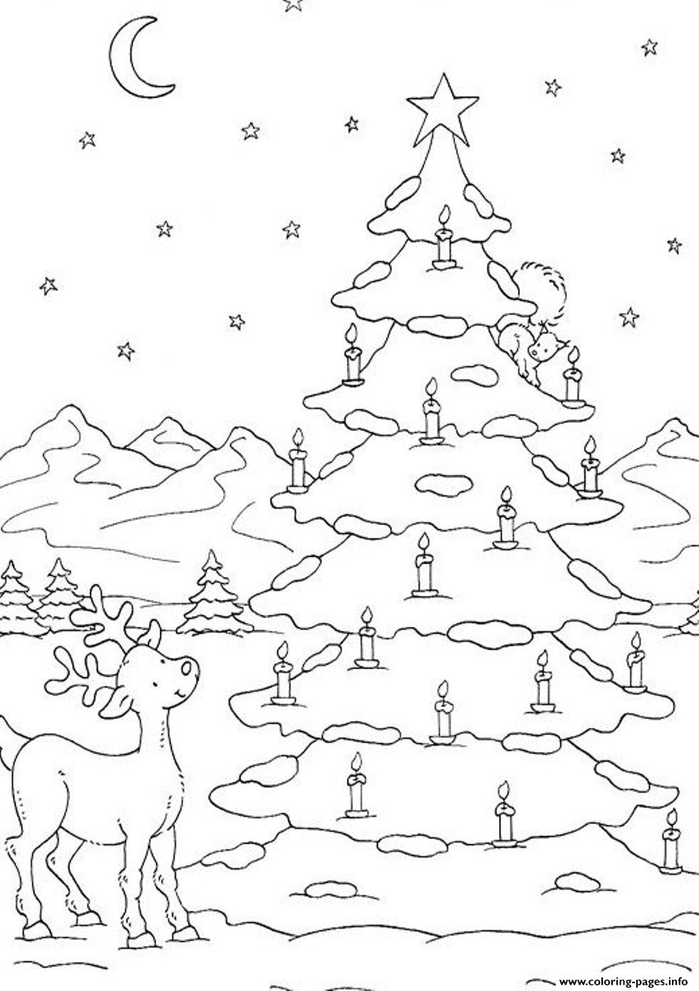 Tree Coloring Pages Printable Free Christmas Trees Sheets – youii | 1391x981