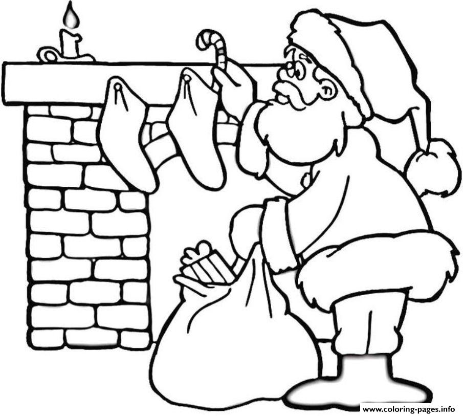 Coloring Pages Of Santa Near Fireplaceb28a Coloring Pages ...