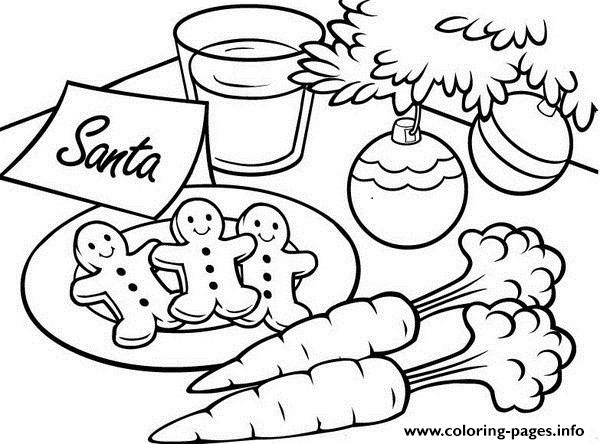 Christmas S For Kids Gingerbread For Santa2fb2 coloring pages