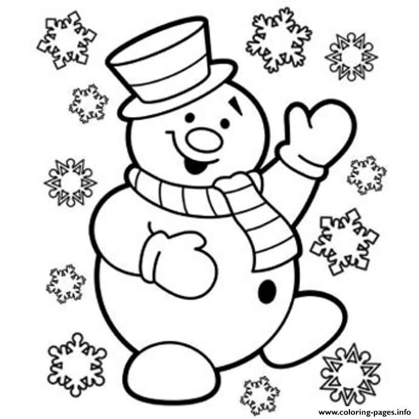 Free Snowman Kid S Christmasf860 coloring pages