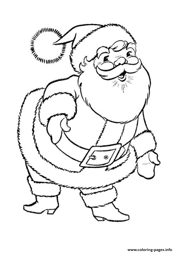 Santa Claus Christmas S Printablebcd0 Coloring Pages