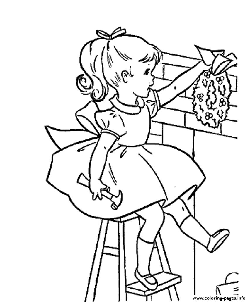 christmas girl s decor9659 coloring pages