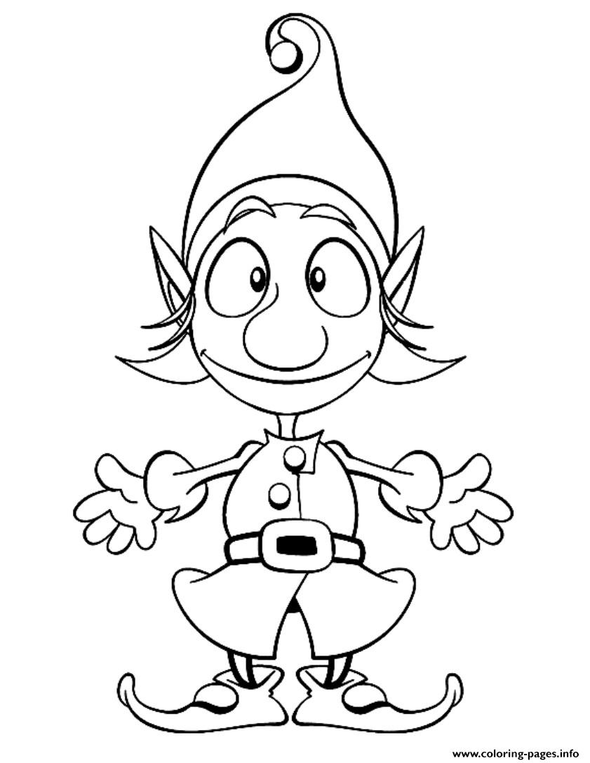 Christmas Elf S For Kids91de coloring pages