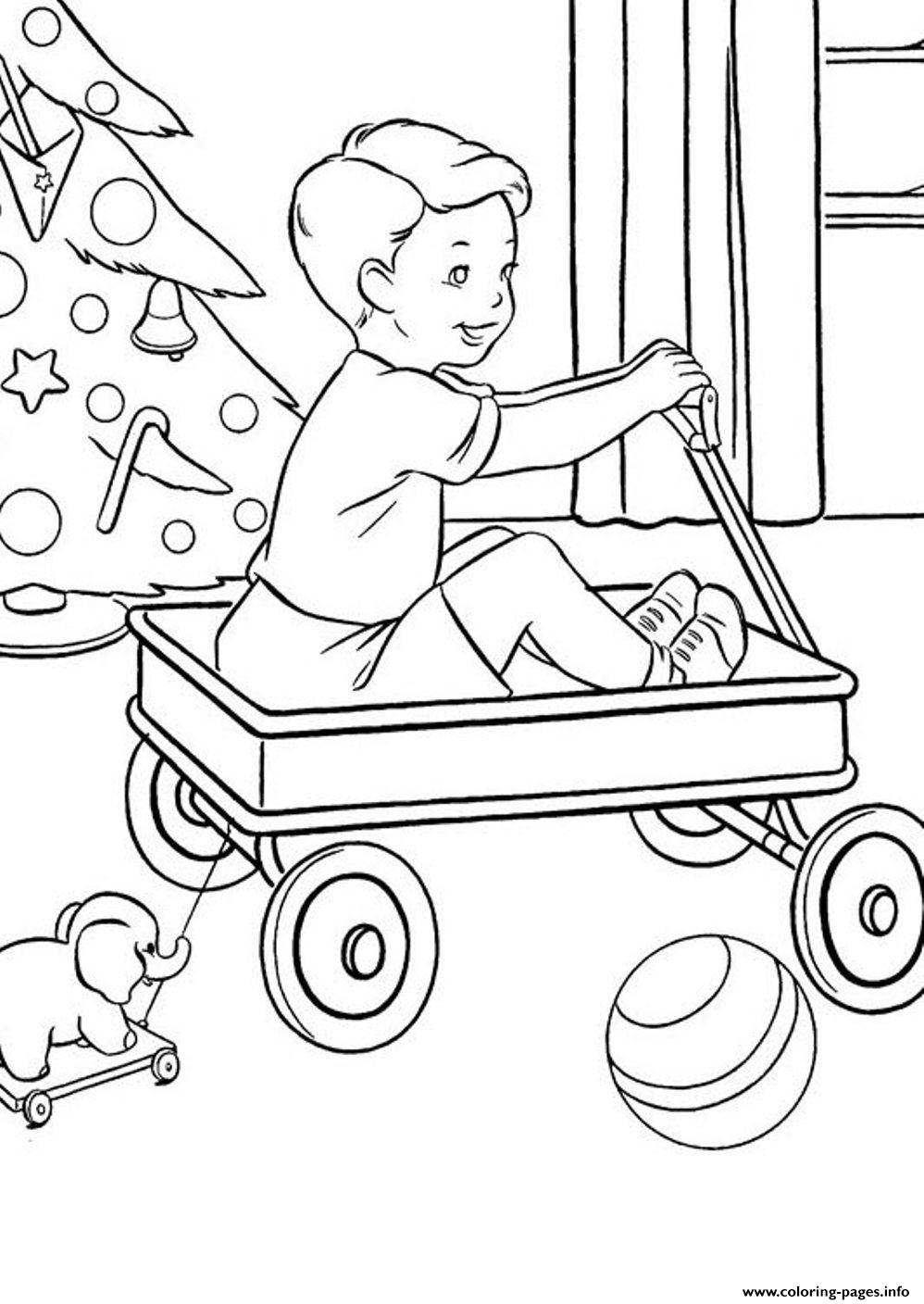 Christmas Present For Little Boyd123 Coloring Pages Printable