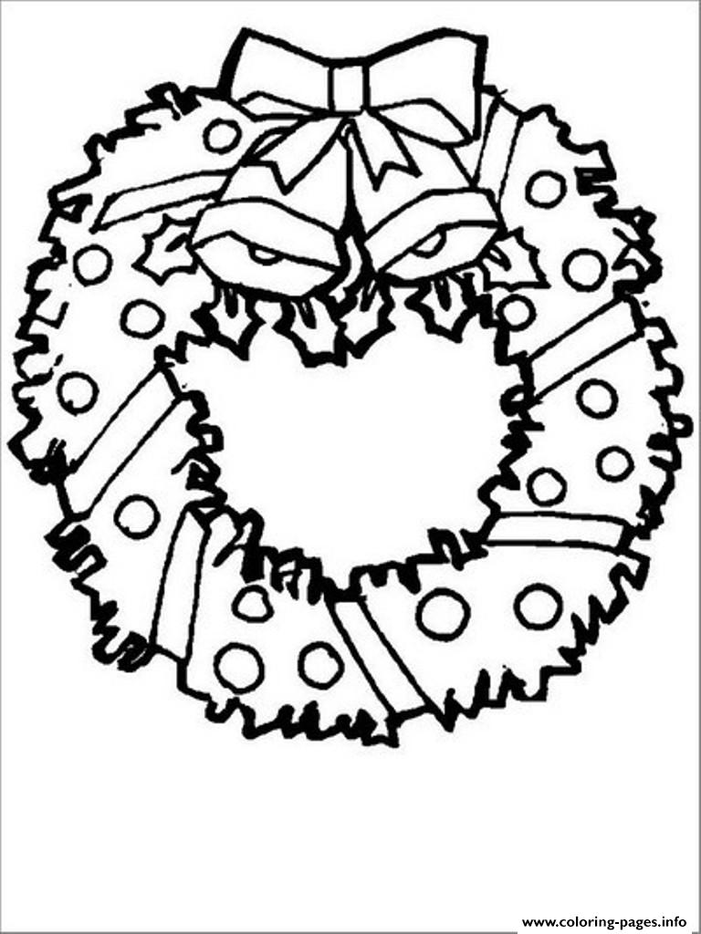 picture regarding Christmas Wreath Printable identified as No cost S For Xmas Wreath For Preschool5c12 Coloring Internet pages