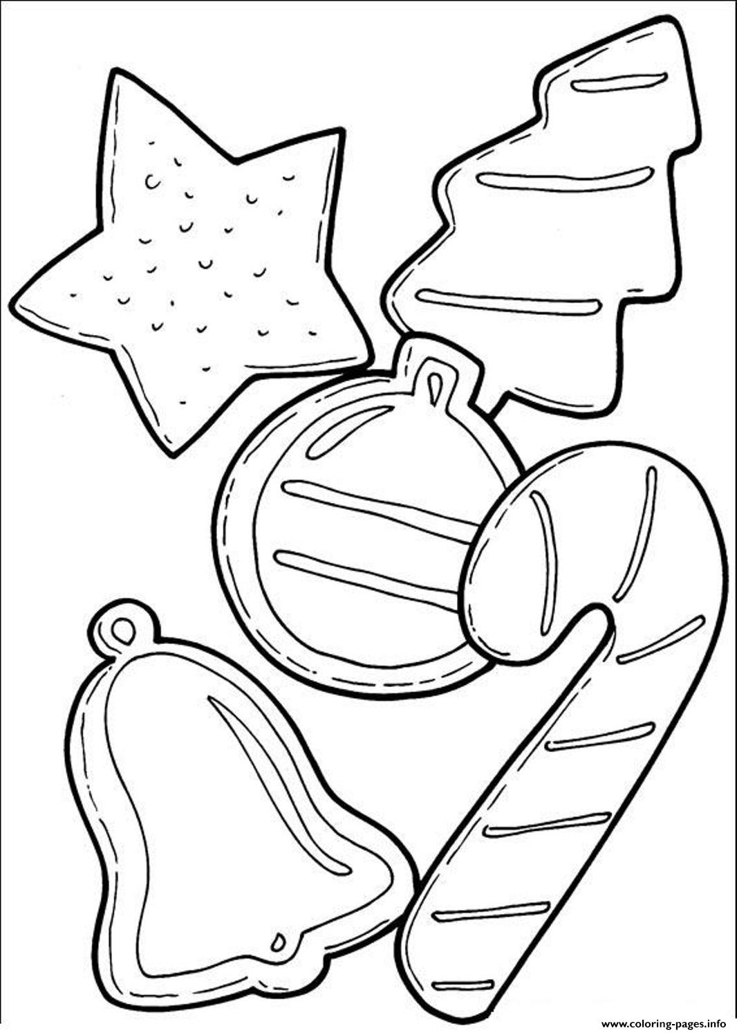Cookies And Candy Cane For Christmas C4fa Coloring Pages Printable