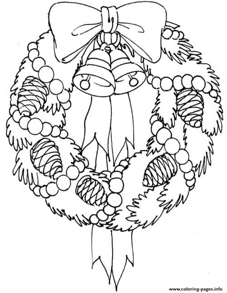 Adorable Wreath Free S For Christmas86cf coloring pages