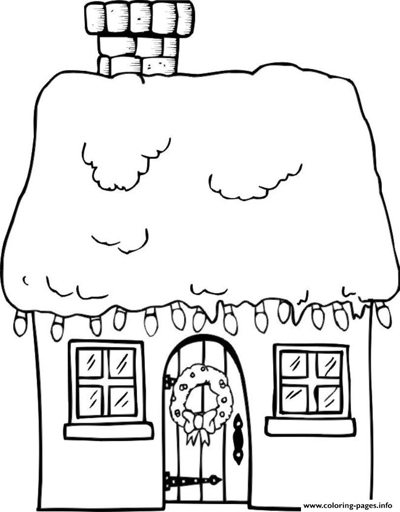 House christmas winter 39ba coloring pages printable