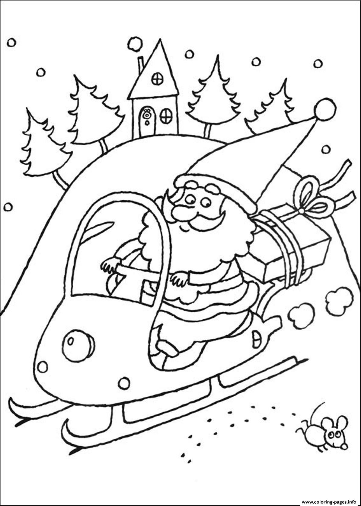 Coloring Pages Of Santa Claus Christmas New Yearda23 Coloring Pages ...