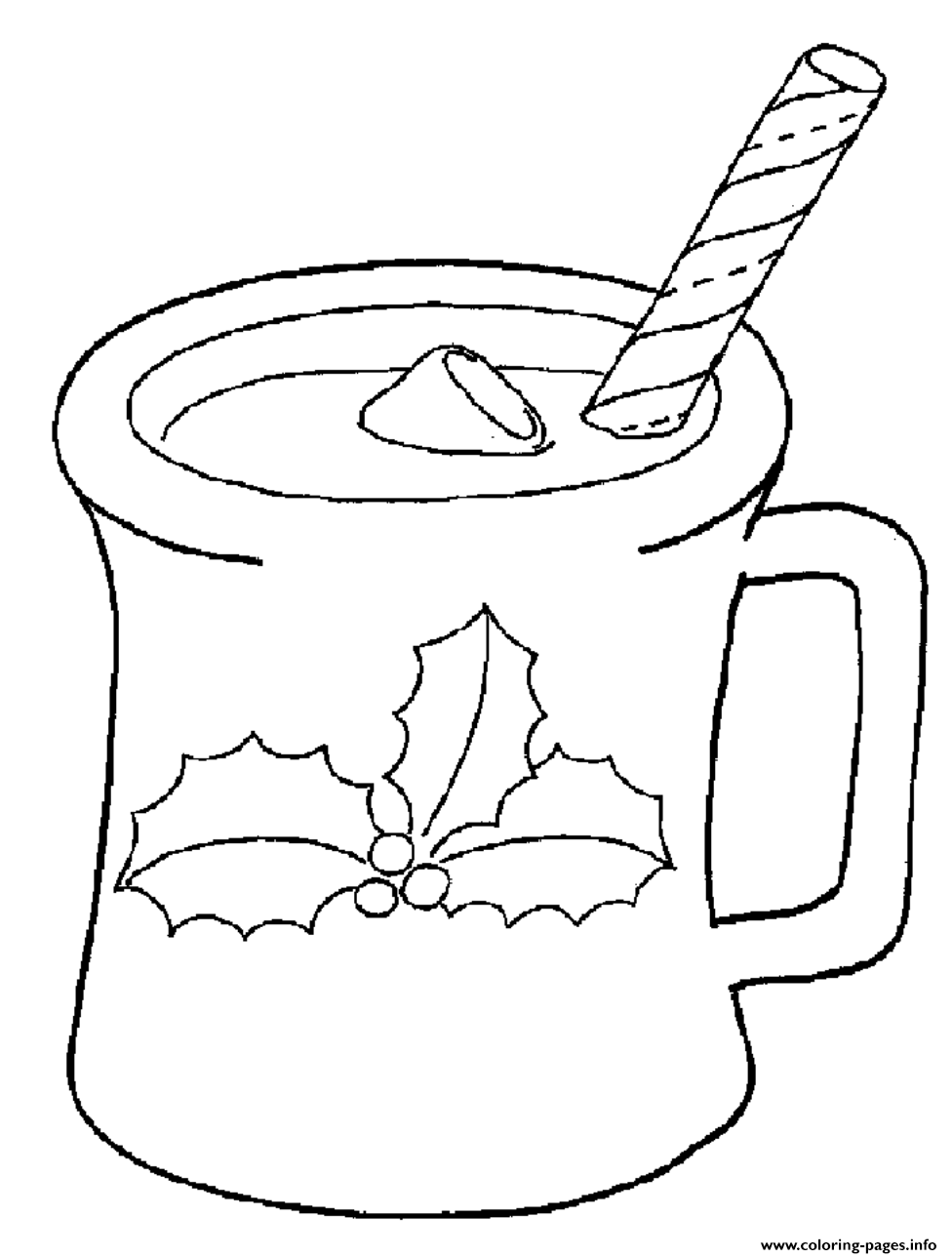 Printable S Christmas Drink7b04 coloring pages