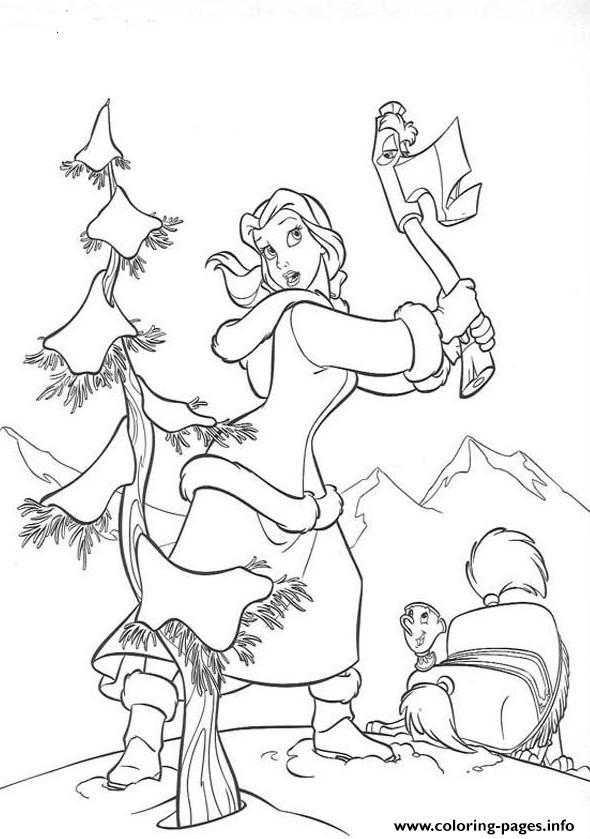 Belle Wants A Christmas Tree E1449388308957db18 Coloring ...