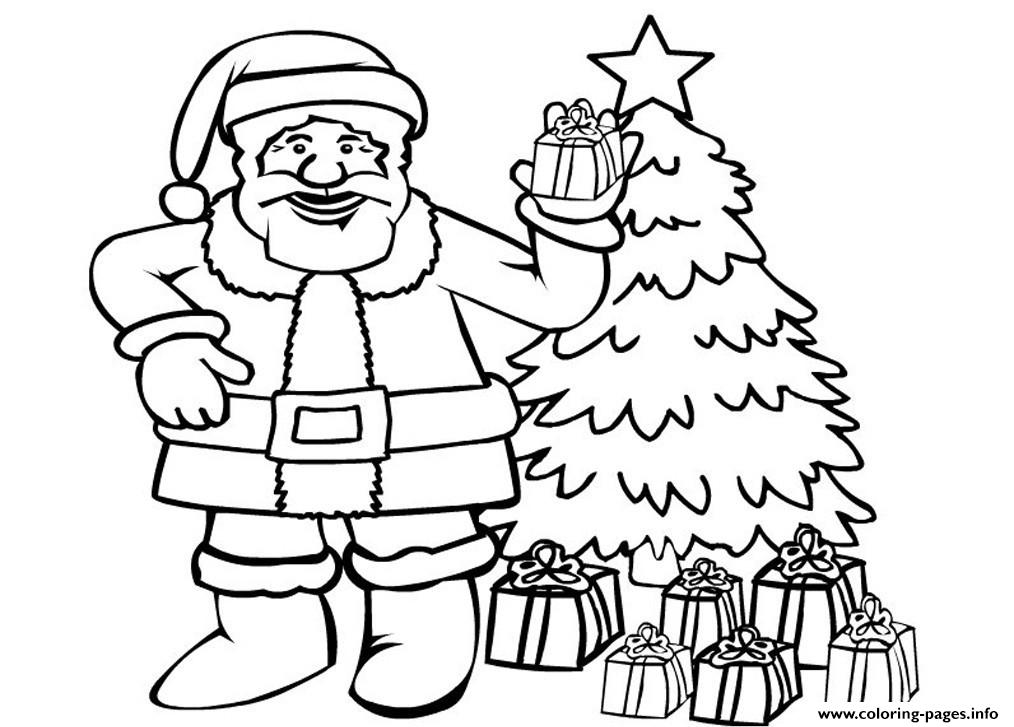 Printable S Christmas Santa Claus0684 coloring pages