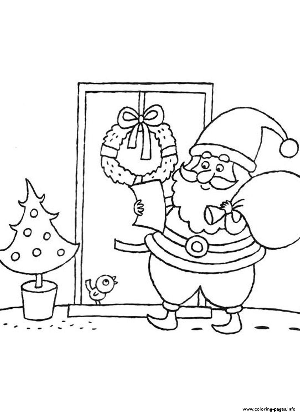 Read A List Santa Claus S84c0 coloring pages