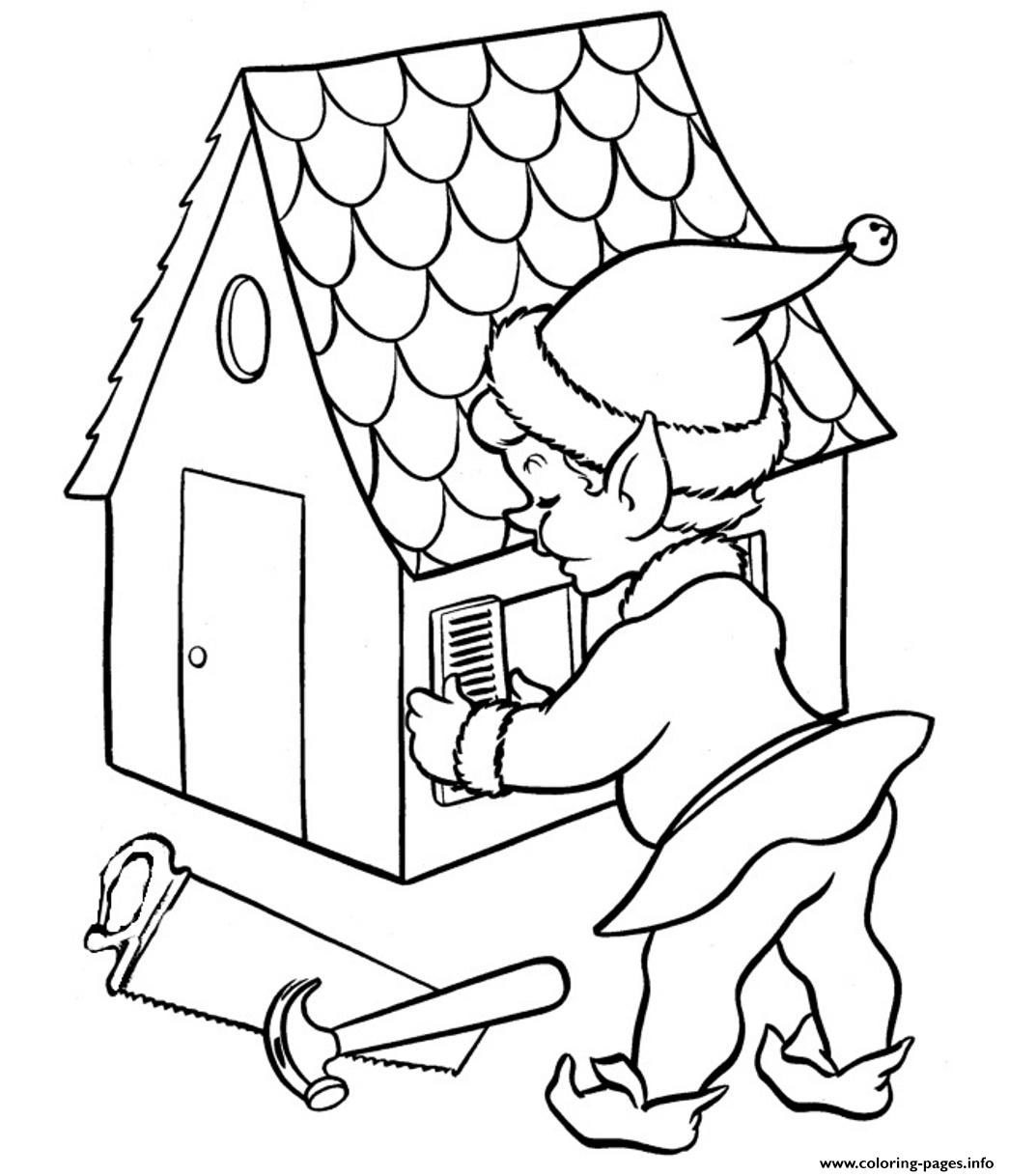 Elf Free Coloring Christmas Pages12a0f coloring pages