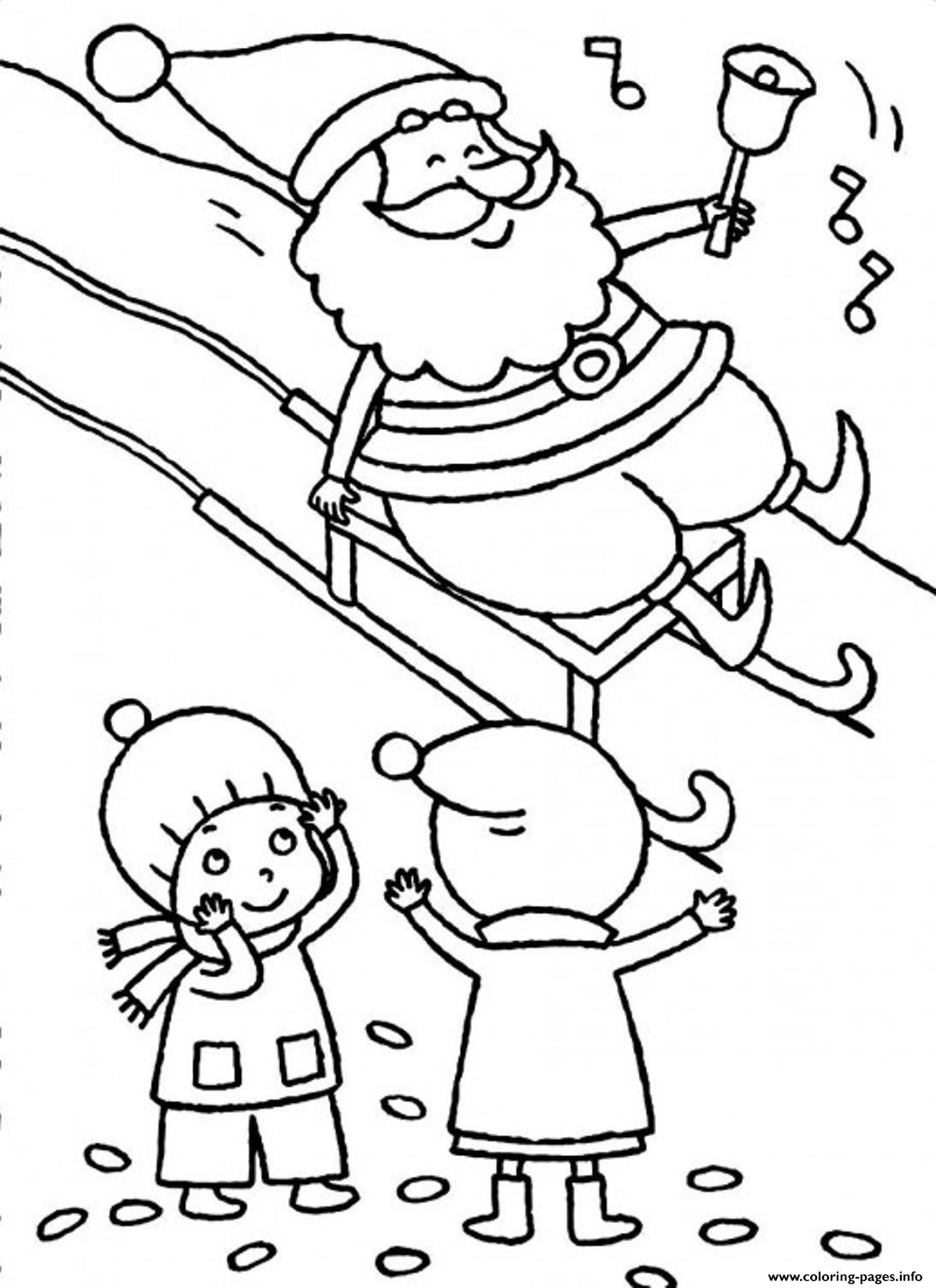 Free S For Christmas Santa And Kidse3f4 coloring pages