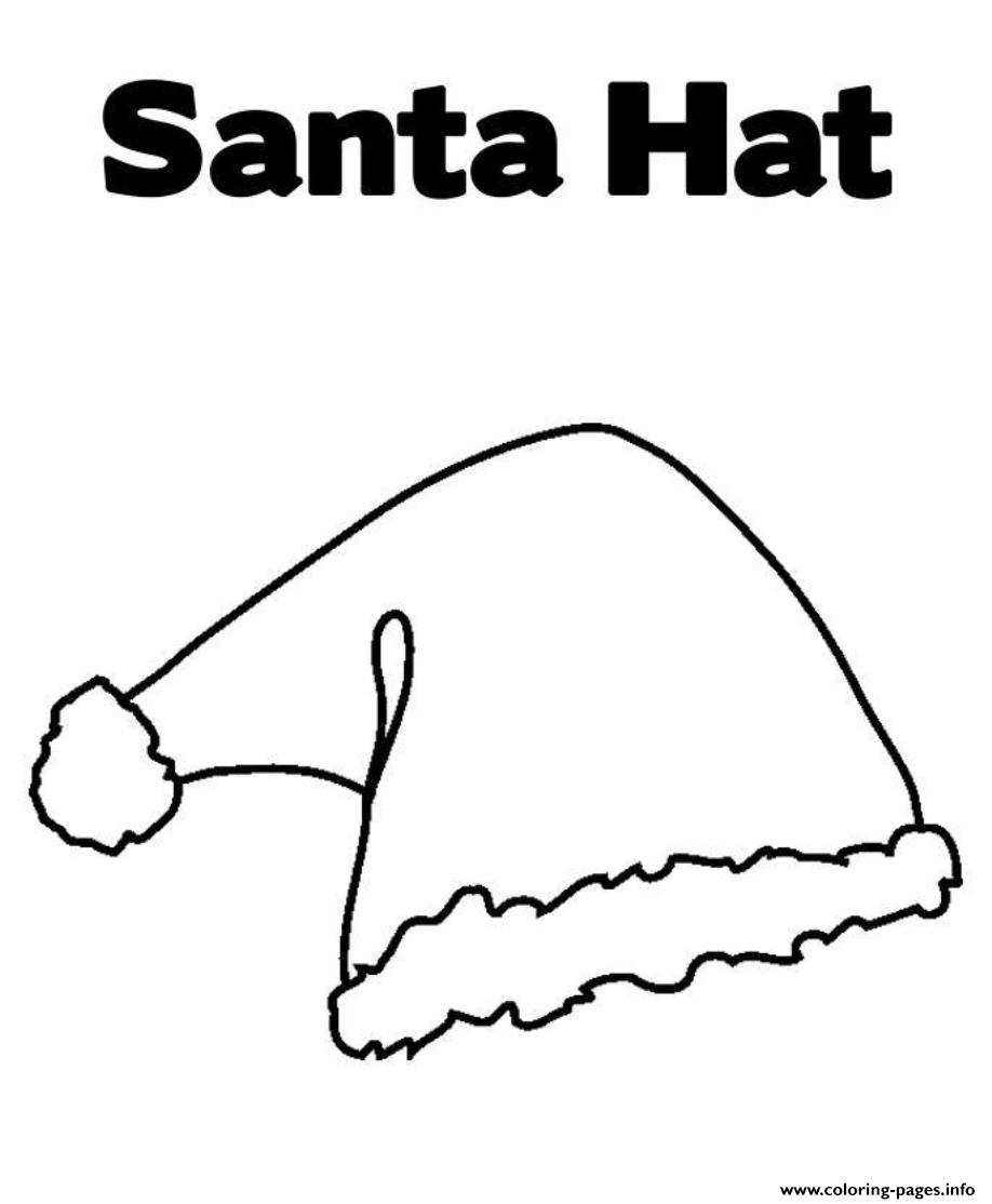 santa claus hat coloring page - free hat of santa claus s667a coloring pages printable