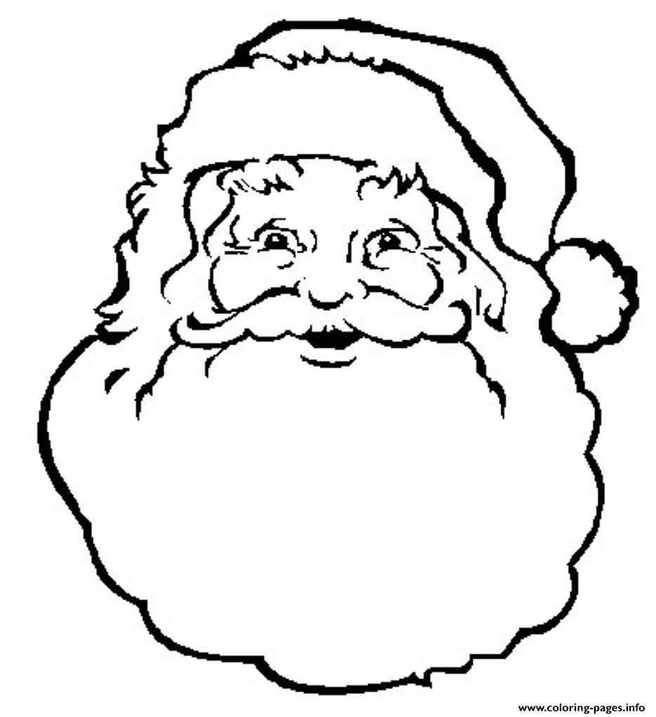 Face Of Santa Claus S Freee02a Coloring Pages Printable