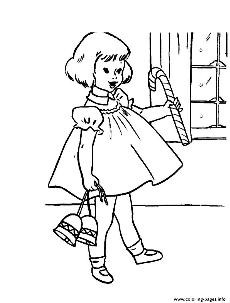 Christmas Girl S With Giftsccfb coloring pages