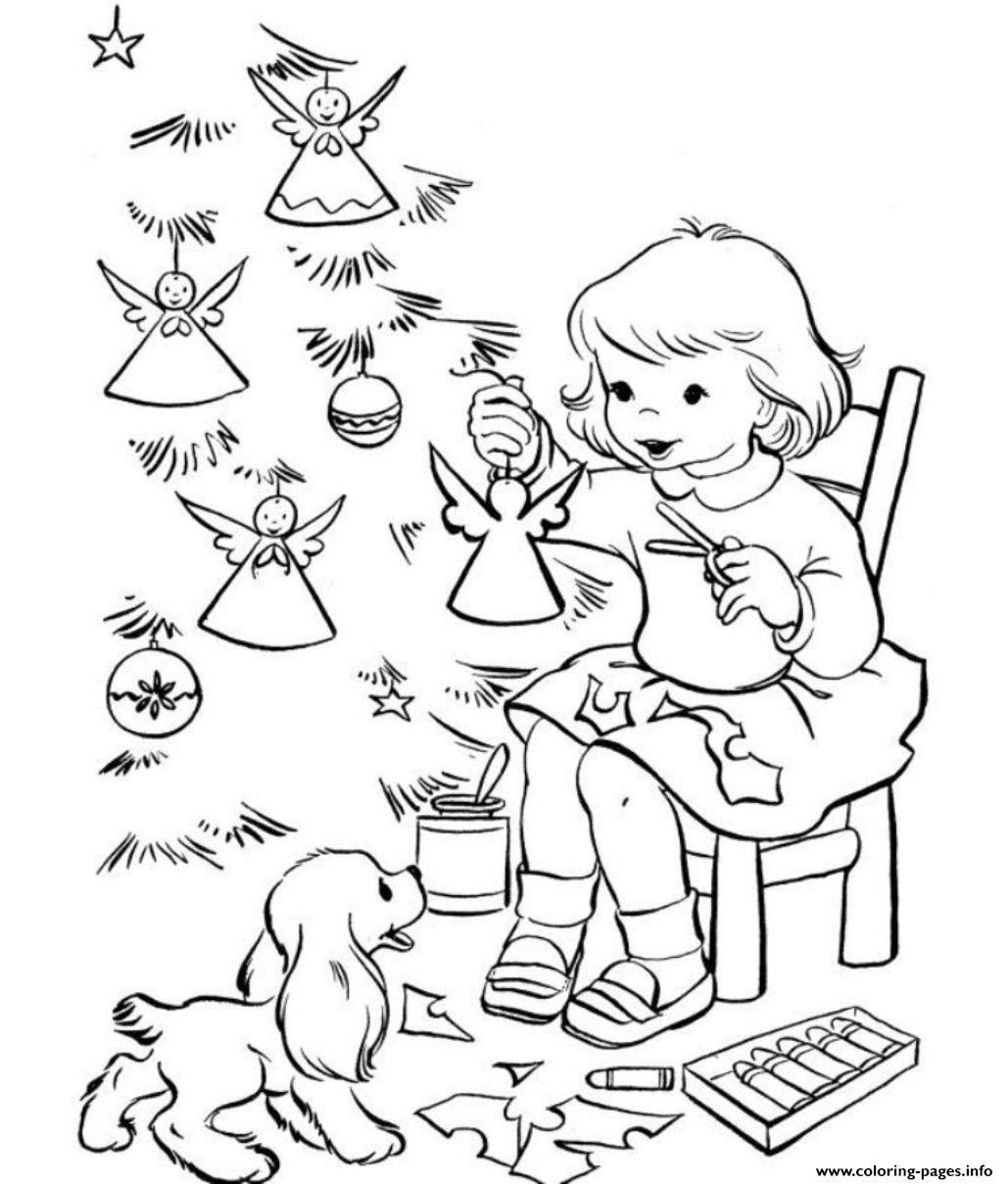 Coloring Pages Christmas Tree Decoratingadc0 coloring pages