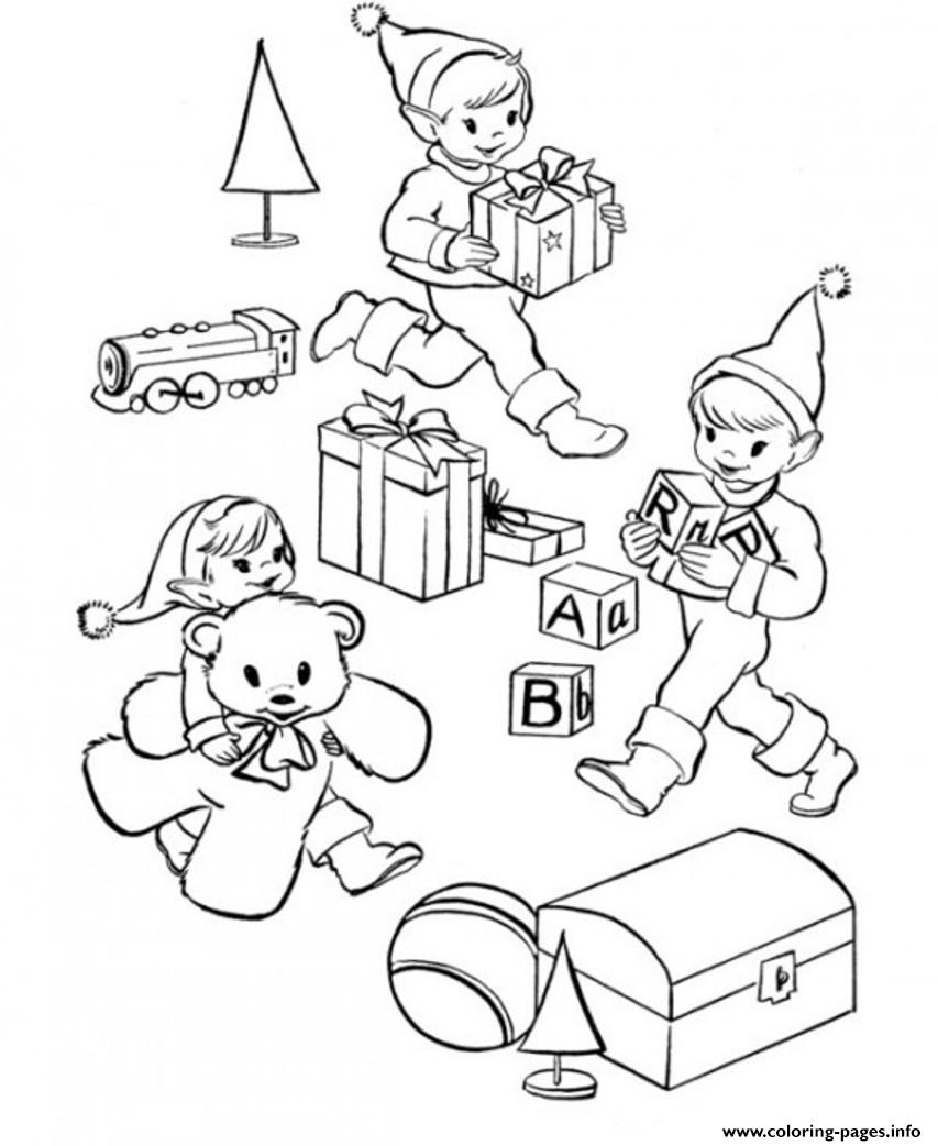 Christmas Elf S31f3 Coloring Pages Printable