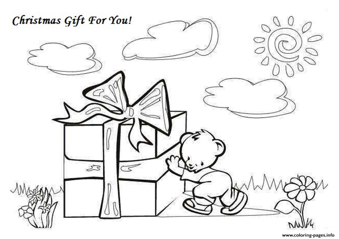 Printable S Christmas Gift9450 Coloring Pages Printable