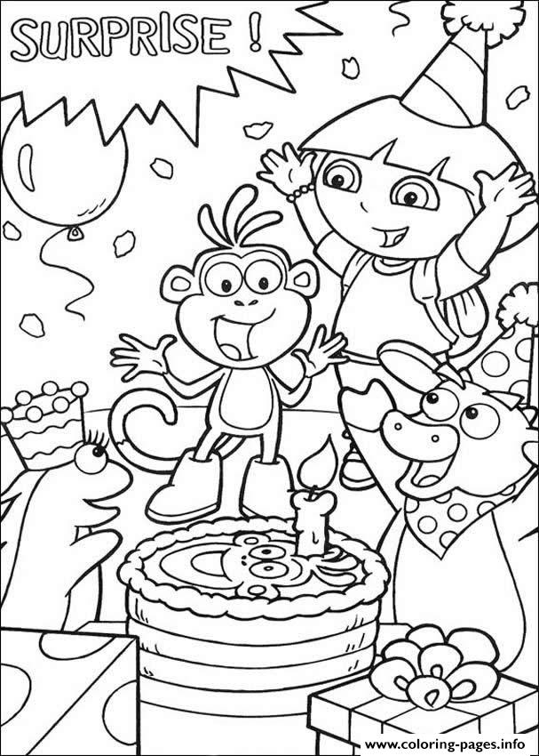 Dora Happy Birthday S Free69dc Coloring Pages Printable
