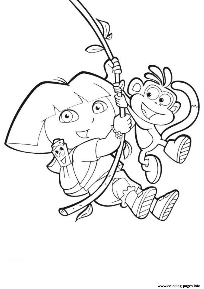 adult coloring pages dora the explorer online dora the explorer ... | 1221x863