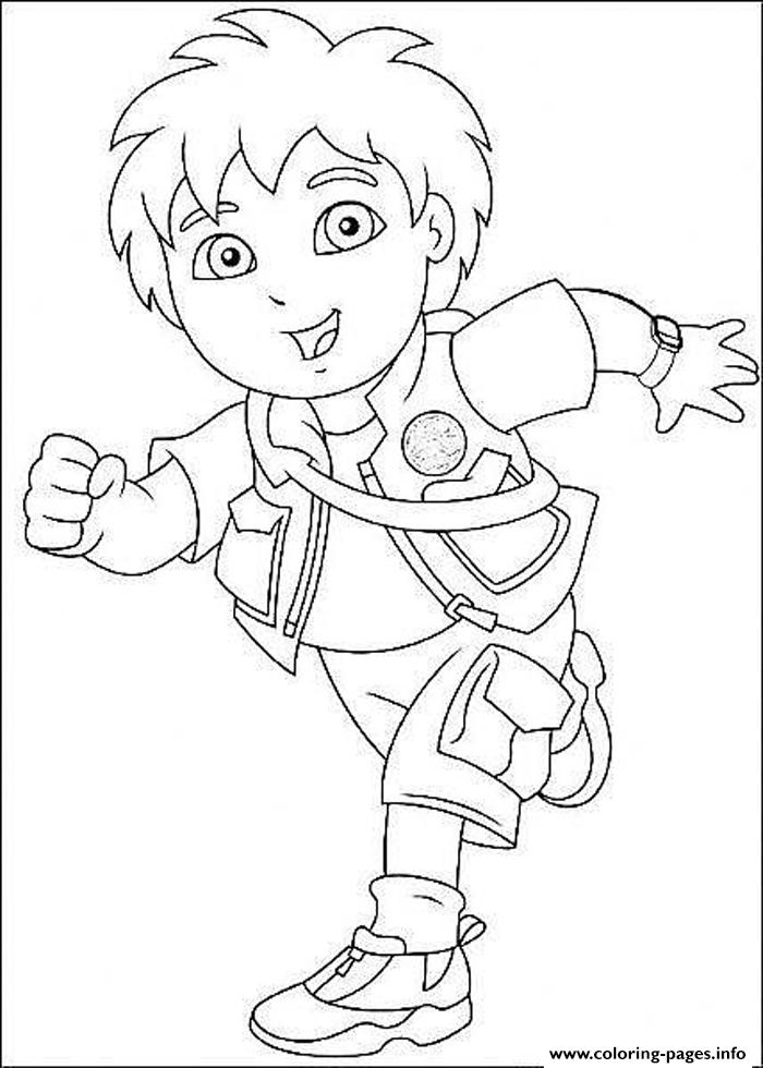 Cartoon Diego S For Kids080f Coloring Pages Printable