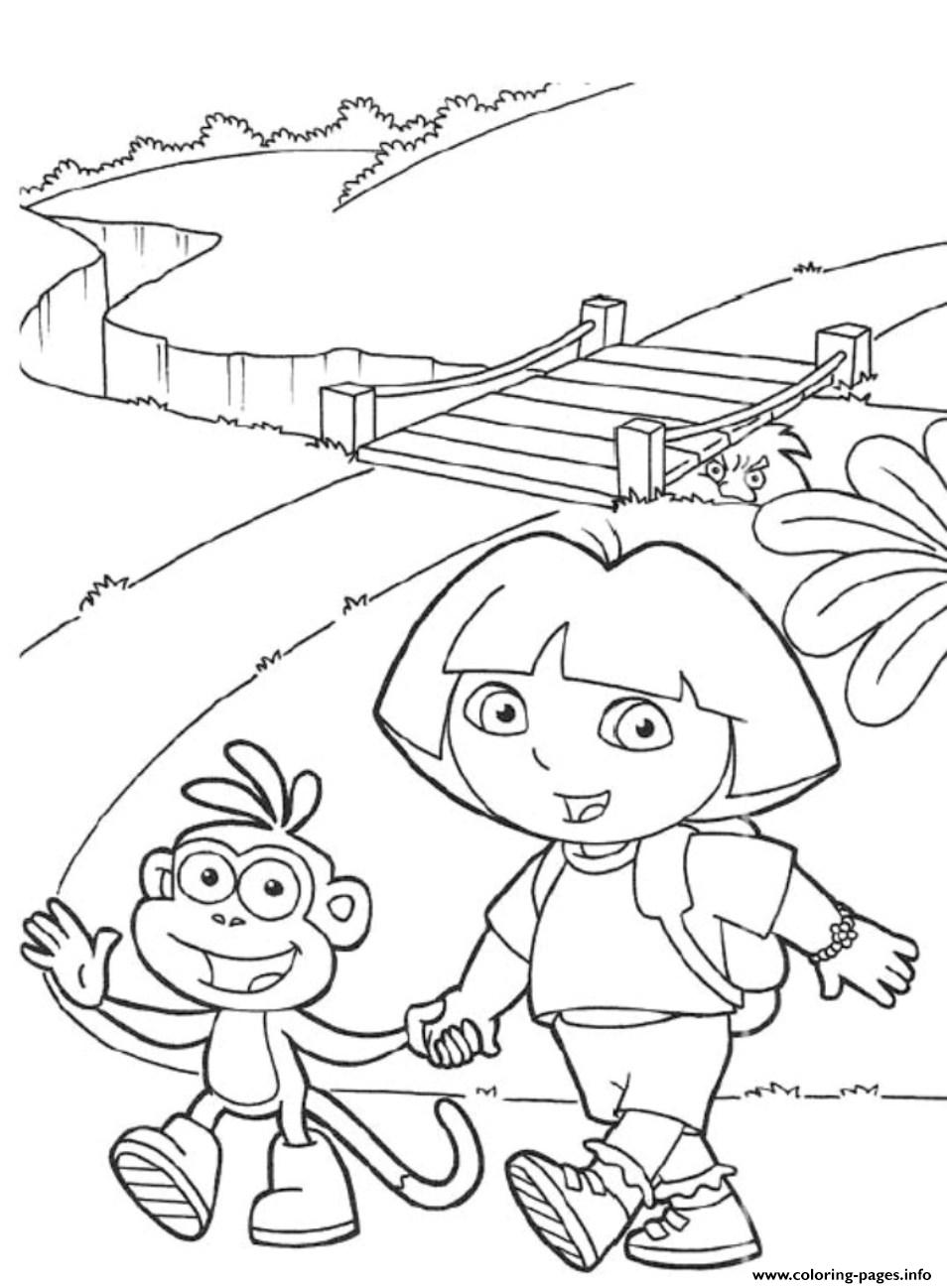 boots and dora s to print95a2 coloring pages printable
