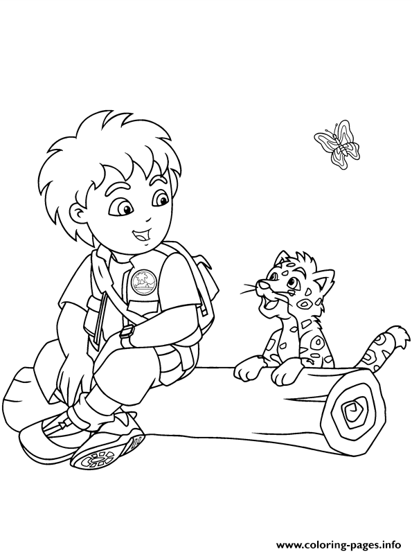 Diego And Jaguar Se7ef Coloring Pages Printable
