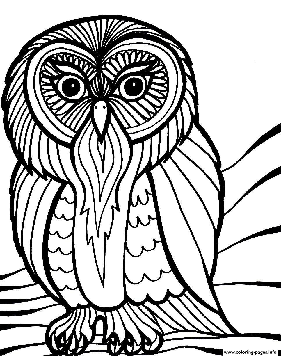 scary halloween owl s8616 coloring pages printable